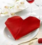 Салфетка във формата на сърце