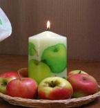 Свещ с декупаж